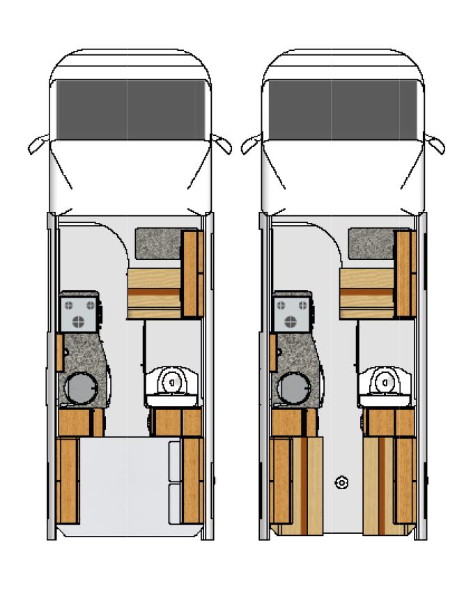 Leisure Treka ELD Motorhome Floorplan