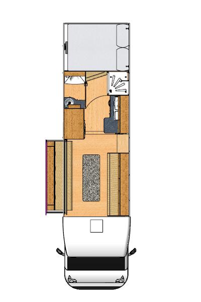 Moto-Trek Euro-Treka G Motorhome Floorplans