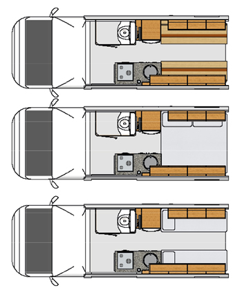 Moto-Trek Leisure-Treka RL Motorhome Floorplan