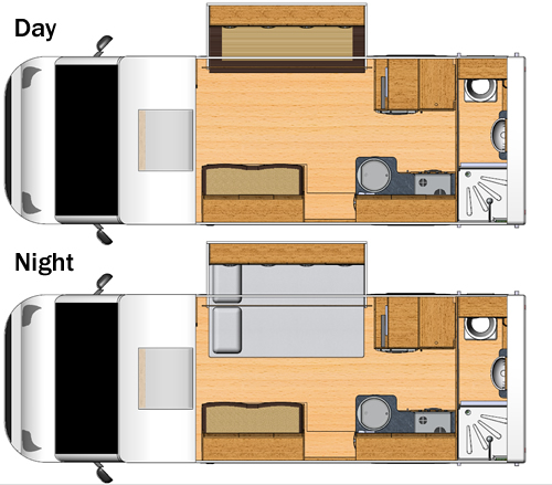 Moto-Trek X-Cite EB Motorhome Floorplan